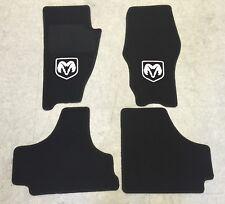 Autoteppich Fußmatten für Dodge Nitro 2006-2012 schwarz weiss Velours Nubuk Neu