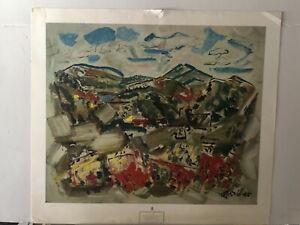 Rare John Marin NEVER FRAMED, NO FADING 1960s NYGS print 30x34 TUNK MOUNTAIN