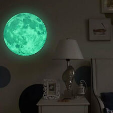 30cm Moon Earth Planet Wall Decals Luminous Wall Stickers Glow In The Darkness