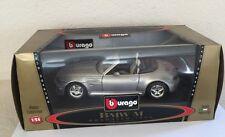BURAGO 1/18 3349 BMW M ROADSTER 1996 SILVER