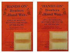 Bowls Grip Aid Hands On Bowlers Hand Finger Wax Twin Pack Four Blocks Australian