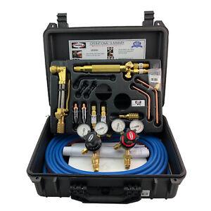 Harris Oxy / Acetylene Compatible Gas Kit with 730 Regulators Welding Brazing