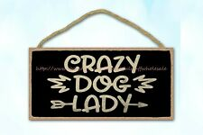 vintage style plaques crazy dog lady puppy dog pet quotewood sign