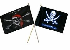 "12x18 12""x18"" Wholesale Combo Pirate Surrender Booty & Dead Men Tale Stick Flag"
