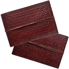 """10"""" Real Leather Handmade Vintage Photo Album Scrapbook 2nds Quality Petal Paper"""