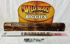 10 Ocean Wind Wildberry Biggies Incense & Cones + Wood Coffin Burner Free Ship