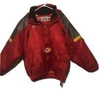 Vintage 90's Starter Proline KANSAS CITY CHIEFS pullover zippered jacket size L
