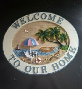 Welcome Home Hanging Beach 3D Sign