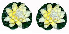 2x künstliche Seerose Aquarium Dekoseerose Teichrose Wasserpflanze Teichpflanze