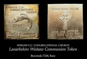1966 Lanarkshire Wishaw Copper Communion Token B7228