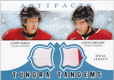12-13 Artifacts Louis Leblanc Cody Eakin Jersey Tundra Tandems Team Canada 2012