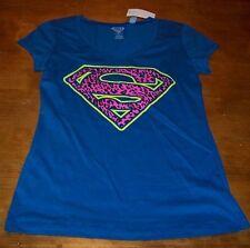 WOMEN'S TEEN DC COMICS SUPERMAN T-shirt MEDIUM NEW w/ TAG  WONDER WOMAN