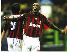 Clarence Seedorf Signed 10x8 Photo Authentic! Signed Ac Milan Netherlands Dutch