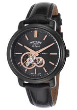 Rotary Les Originales Jura Men's Swiss Made Automatic Open Heart Watch $1495 NEW