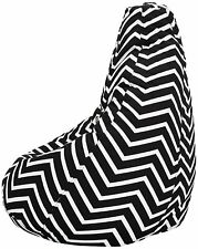 Chevron Stripes XXXL Printed Fabric Bean Bag Cover Without Beans