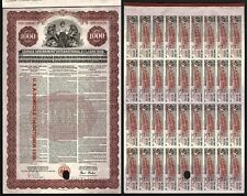 1930 Germany: German Government International Loan - $1000 Gold, U.S.A. Domicile