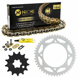Sprocket Chain Set for Kawasaki KX65 13/47 Tooth 428 X-Ring Front Rear Combo Kit