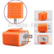 2 Pin Speed Adjustable LED Flasher Relay Motorcycle Turn Signal Indicator 12V