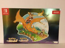 Nintendo Pokemon Let's Go Pikachu Eevee Gamestop Exclusive Poster Map