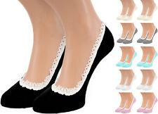 12 Paar Damen Sneaker Socken Füßlinge Ballerinas Footies mit Spitze Mehrfachpack