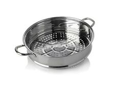 "SIMPLY MING STAINLESS STEEL 13"" JUMBO STEAMER BASKET BY MING TSAI"
