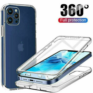 360 FRONT AND BACK CLEAR CASE FOR IPHONE 13 11 PRO MAX 12 Mini Shockproof COVER