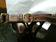 L20 Auth Coach Bleecker Signature C Brown Jacquard Leather Shoulder Hobo 11430