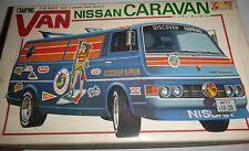 GUNZE SANGYO CARAVAN NISSAN CAMPING VAN MODEL CAR MOUNTAIN 1/24 RARE