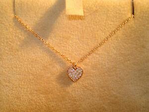 TOP Collier Herz 750 Gold 24 Brillanten ca 0,15 ct Collana Cuore Oro 18K 3,5 g.