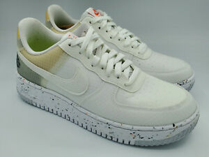 Nike Air Force 1 Crater White Orange Sneakers Shoes DH2521-100 Size 9.5