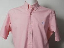 Super Cool 100% Genuine Men's Ralph Lauren Classic Fit Check Shirt Large Size