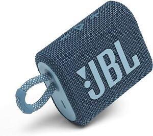 JBL GO 3 Portable Waterproof Bluetooth Speaker - Blue - Certified Refurbished!