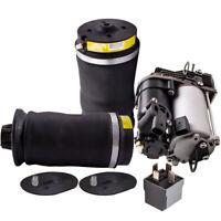 2PCS Rear Air Suspension Bag & Air Compressor for Mercedes Benz W164 X164 GL ML