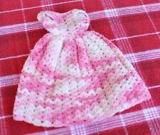 Vintage Handmade Doll Dress Hand Crocheted Barbie Style Pink Lovely