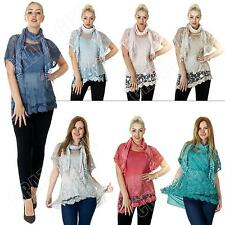 Crew Neck Semi Fitted Other Tops & Shirts Size Petite for Women