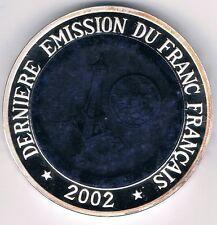 Congo 1000 Francs 2002 Edelstein-Relief  Frankreich Eiffelturm  Silber  (Box 40)