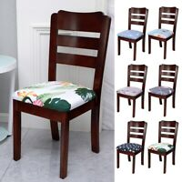 Removable Elastic Chair Slipcover Stretch Home Dining Chair Seat Cover Printed