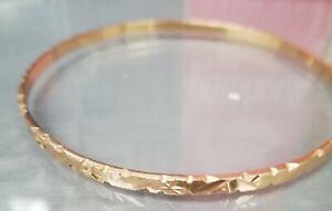 Bracelet Jonc en or plein 18 carats environ 11g