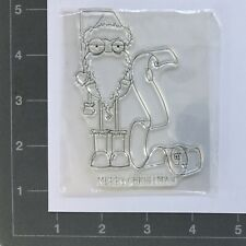 Non Branded Grumpy Santa And List Clear Silicon Stamp