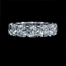 Certified 10.00Ct White Cushion Cut Diamond Engagement Ring 14K White Gold