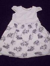 Bébé filles robe Monnalisa Bebe-Italie-Blanc & Gris Floral & Spot - 24 M