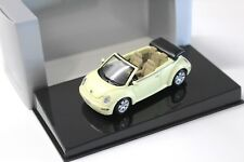 1:43 AUTOart VW Beetle Cabrio yellow DEALER NEW bei PREMIUM-MODELCARS