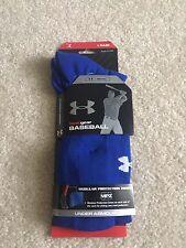 NWT Under Armour HeatGear Mens Baseball Socks Royal Blue (M) Medium Retail $12.9