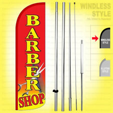 Barber Shop Windless Swooper Flag Kit 15 Feather Banner Sign Rq H