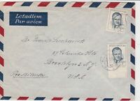 czechoslovakia 1949 airmail stamps cover ref 19649