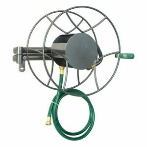 Yard Butler Srwm-180 Wall Mount Hose Reel,Steel,12 In. Reel W