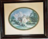 Marty Bell Sweet Pine Cottage 159/550 Print Hand-Signed 1985 Matted Framed COA