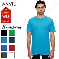 NEW Anvil Men's 100% Cotton Featherweight T-Shirt M-351