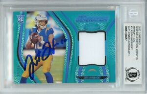 2020 Panini Certified /50 Rookie Patch Signed Justin Herbert AUTO BGS