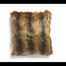 Nwt faux brown fur throw pillow, Nicole Miller